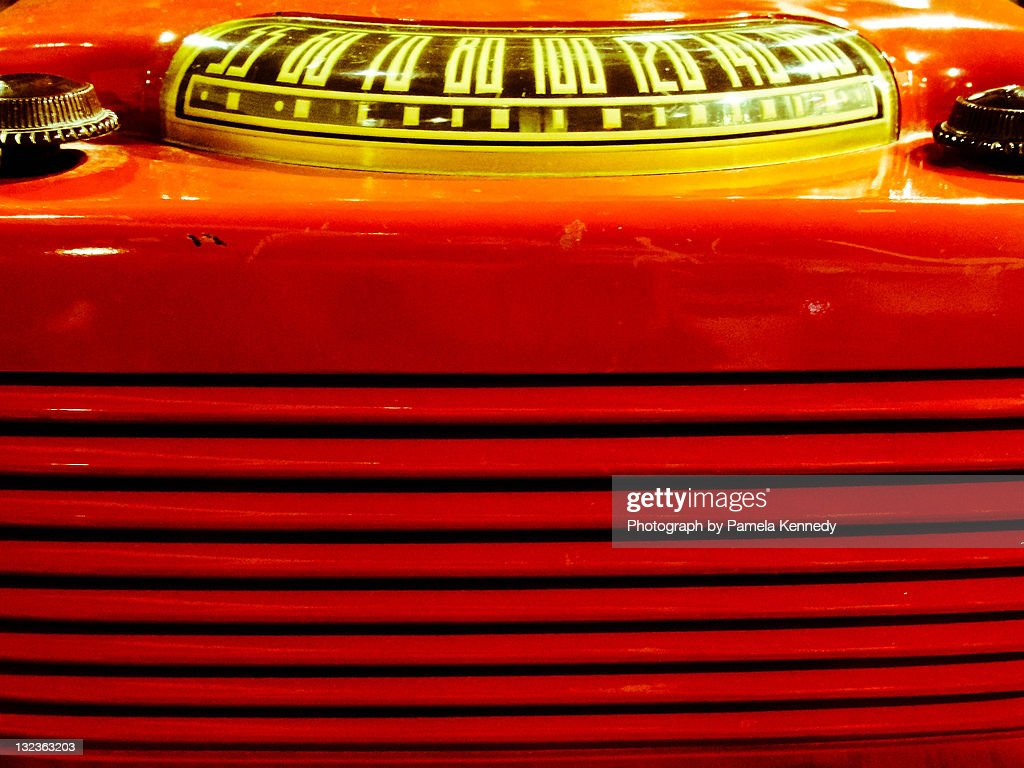 Old retro radio : Stock Photo