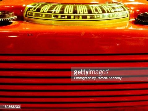Old retro radio : Stock Photo