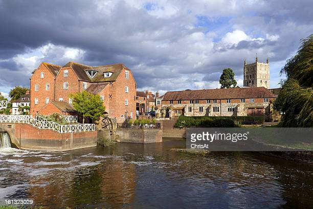 Old riverside mill buildings,Tewkesbury, Gloucestershire, UK