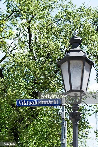 Old road sign at the Viktualienmarkt