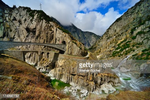 Old road to Gotthard - Devils Bridge