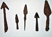 old, arrow, archeology, find, metal detector