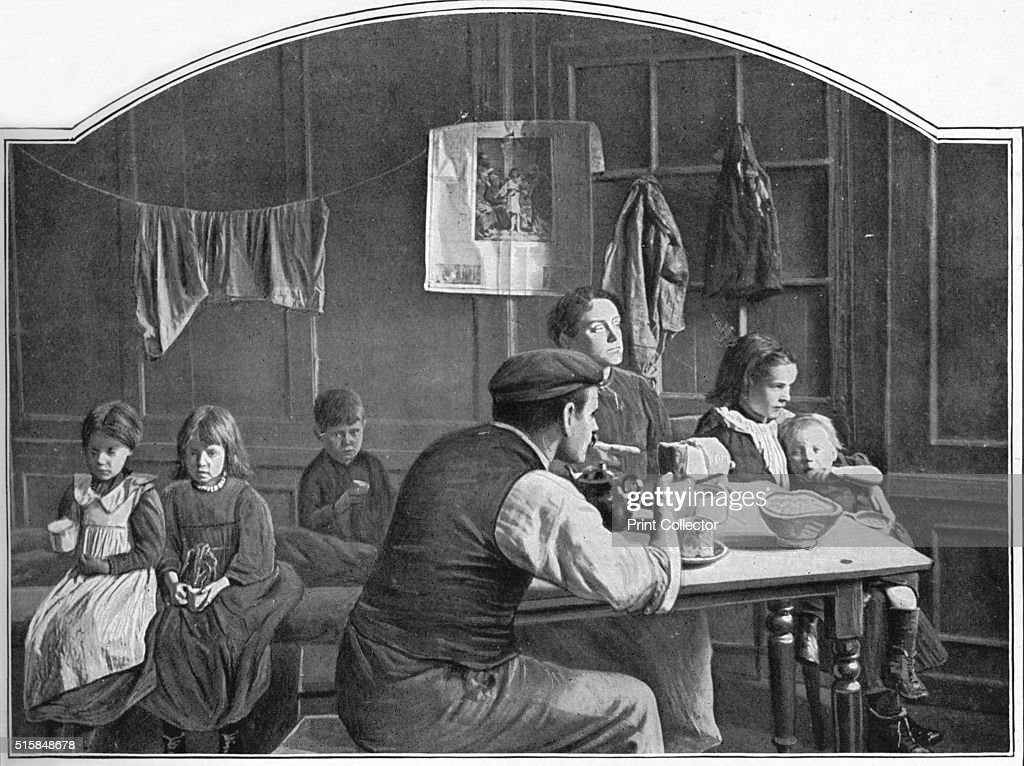 Old Room In Slumland London Circa 1900 1901 From Living