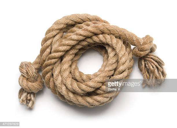 Old rope isolated on white