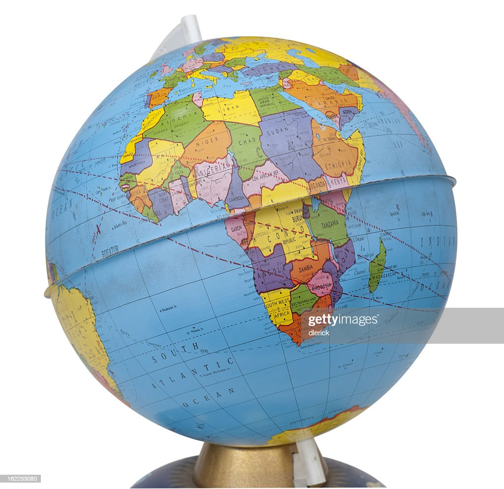 Old Rotating World Map Globe Stock Photo Getty Images - Globe world map