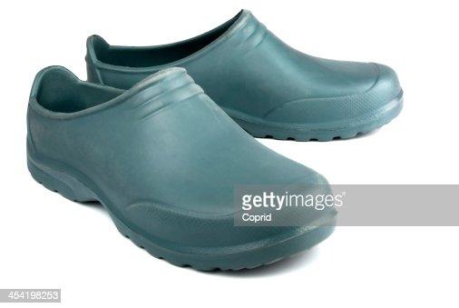 Velhas botas de borracha : Foto de stock