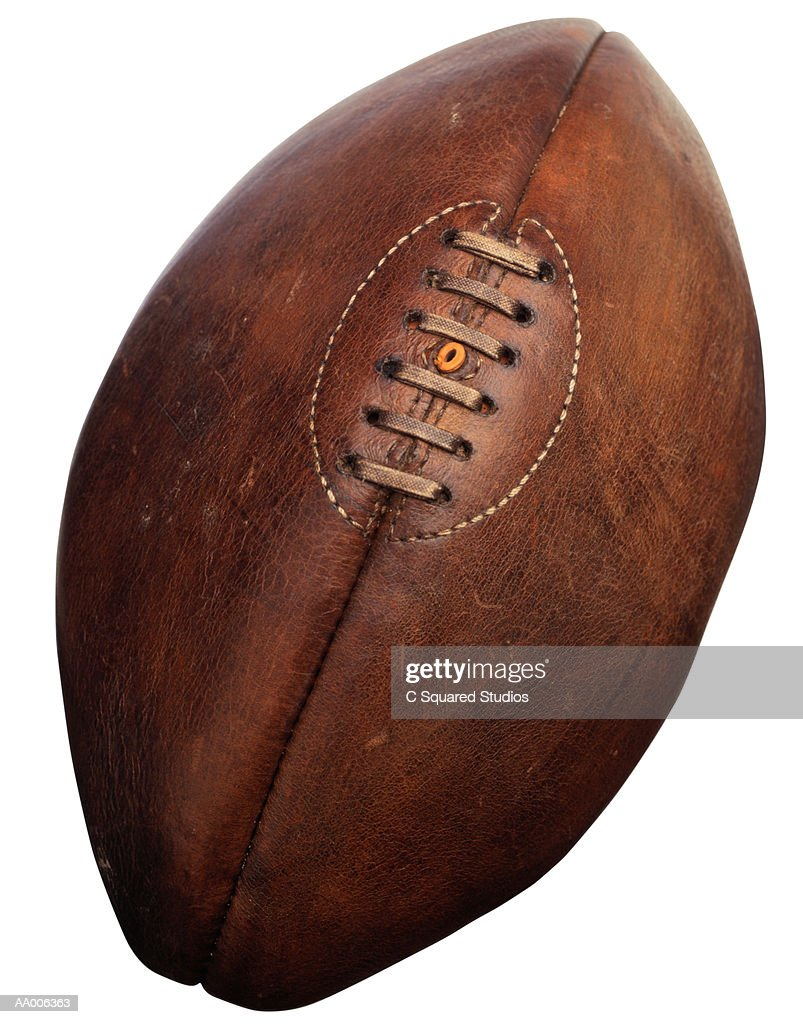 Old Rugby Ball : Stock Photo