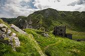 old ruin of kinbane castle antrim coast north ireland