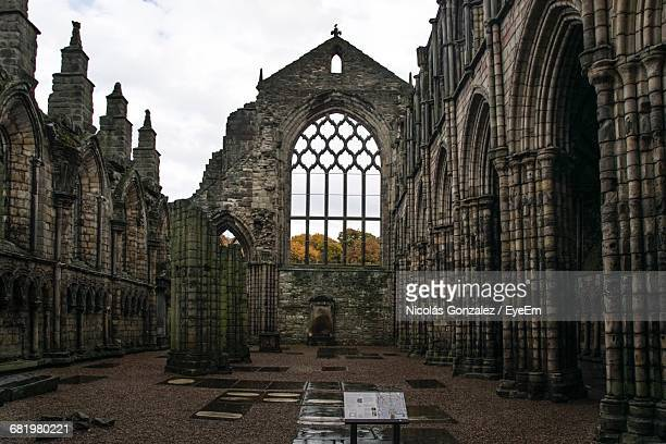 Old Ruined Holyrood Palace Against Sky