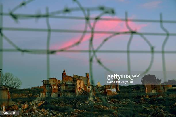 Old Ruins At Belchite Against Sky During Sunset