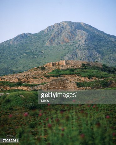 Old ruins in Mycenae, Greece : Stock Photo