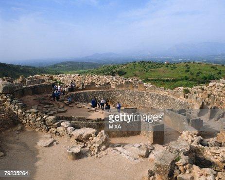 Old ruins in Mycenae, Greece : Stock Photo