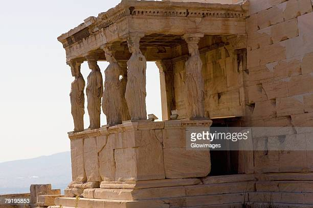 Old ruins of a temple, The Erechtheum, Acropolis, Athens, Greece