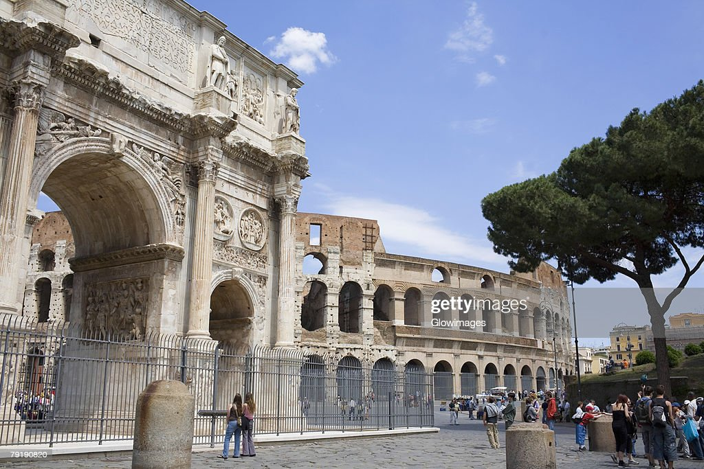 Old ruins of an amphitheater, Coliseum, Rome, Italy : Foto de stock