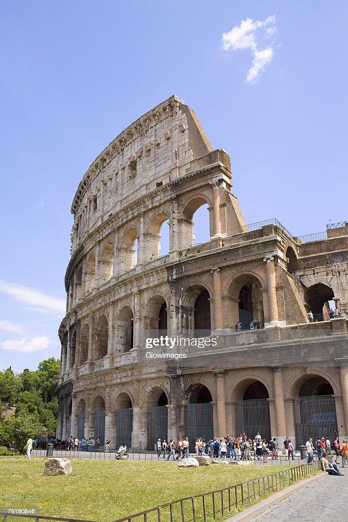 Old ruins of an amphitheater, Coliseum, Rome, Italy : Foto de stock
