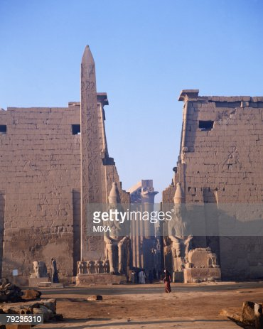 Old ruins of Luxor palace in Egypt : Stock Photo