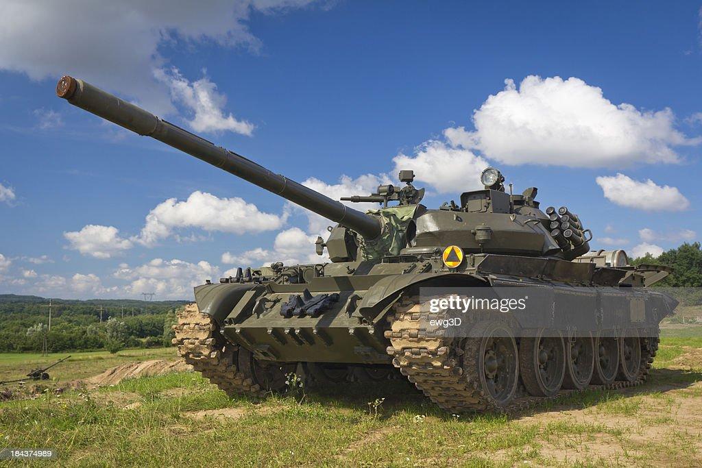 Old Russian tank T-55