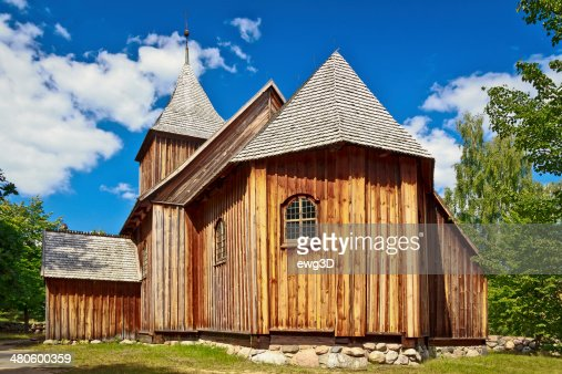 Old Rustic Church, Kaszuby, Poland : Stock Photo