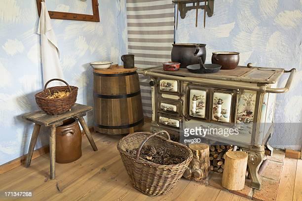 Intérieur de cuisine anciens et rustiques