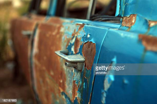 old rusty car door