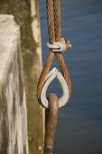 close up old rusty sling
