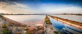 Old salt lake in Sardinia