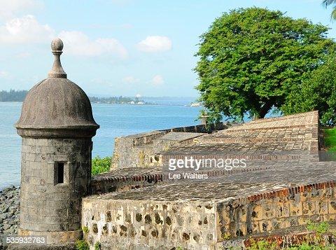 Old San Juan Gun Tower : Stock Photo