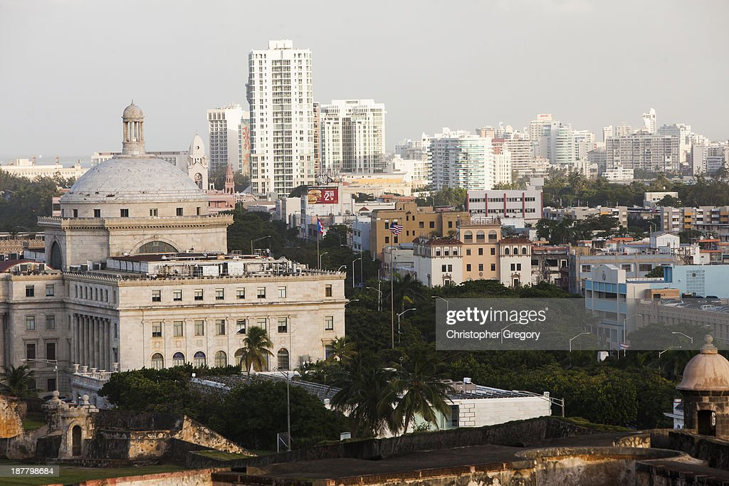 Old San Juan, the center for Puerto Rican tourism, is viewed on November 12, 2013 in San Juan, Puerto Rico. The island territory of the United States, Puerto Rico, is on the brink of a debt crisis as lending has skyrocketed in the last decade as the government has been issuing municipal bonds. Market analysts have rated those bonds as junk and suspect it's 70 billion dollar debt might be unserviceable in the near future. With no industry other than tourism and the recent collapse of the real estate market, the way out is unclear.