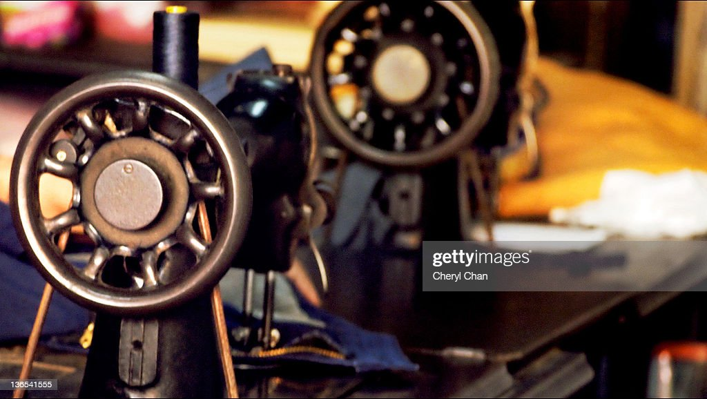 Old sewing machine : Stock Photo