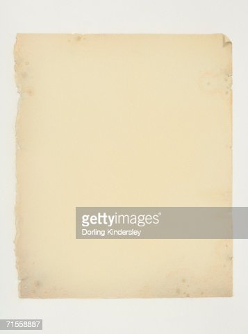 Old sheet of white paper. : Stock Photo