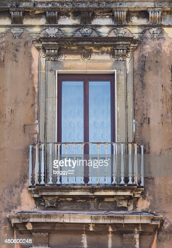 Old sicilian window : Stock Photo
