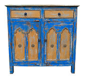 Old sideboard isolated. Clipping path included.
