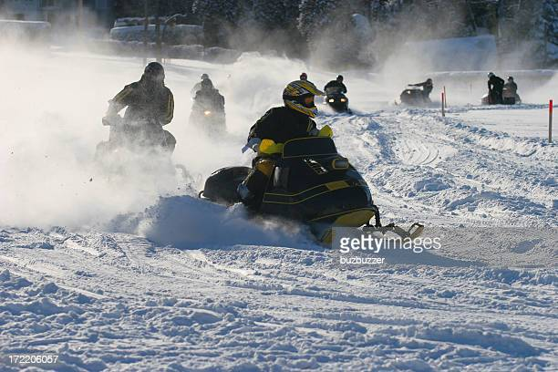 Old Snowmobile Race