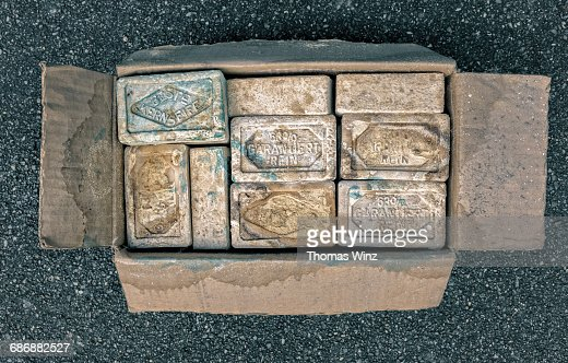 Old Soap bars in a box