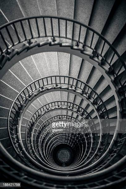 Old spiral stairway from above