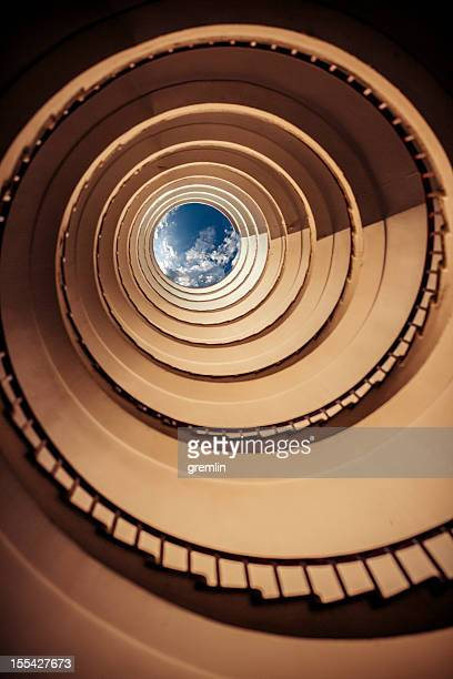 Old spiral stairway from below