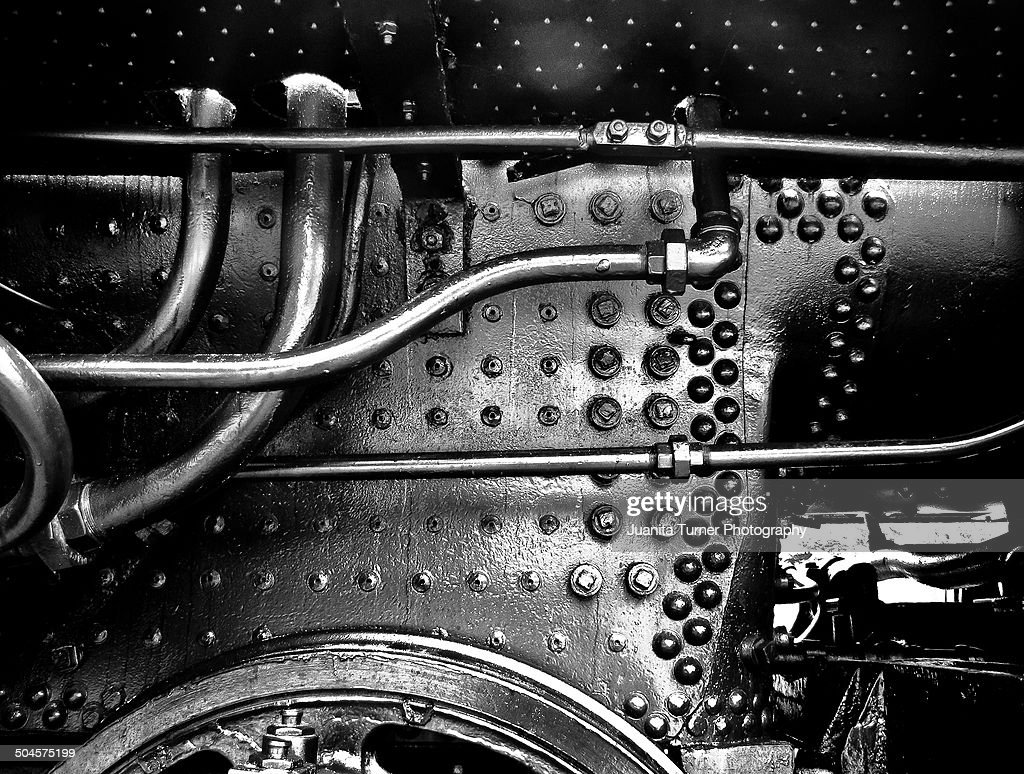 Old Steam Engine Train Detail