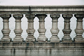 architecture detail-stone balustrade