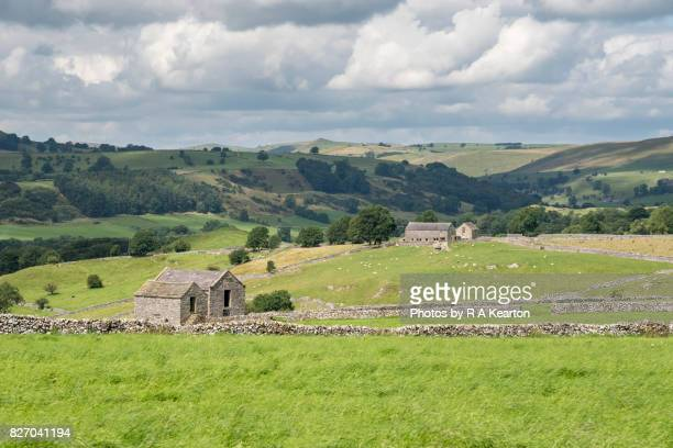 Old stone barns in the Peak District, Derbyshire, England