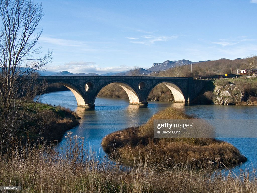 Old stone bridge : Stock Photo