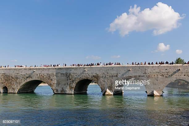 Old stone bridge, Taskopru, Seyhan River, Adana, Cukurova, Mediterranean, Turkey