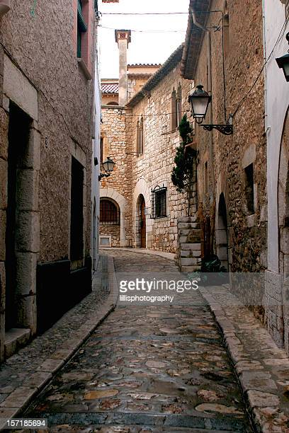 Old Stone Street Village in Spain