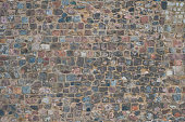 Historic stone wall background - old stone