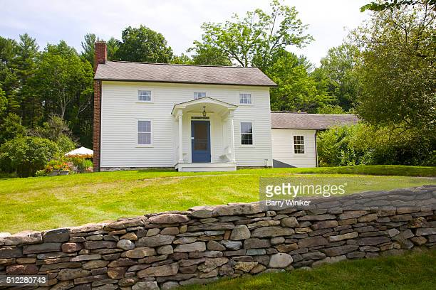 Old stone wall of historic Hillsdale home