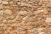 Old stone wall. Wall of the castle from the 13th century. Place for your text