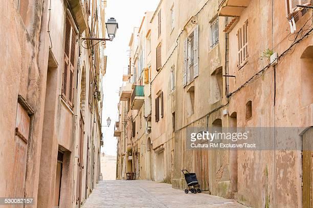Old street, Bonifacio on the Island of Corsica