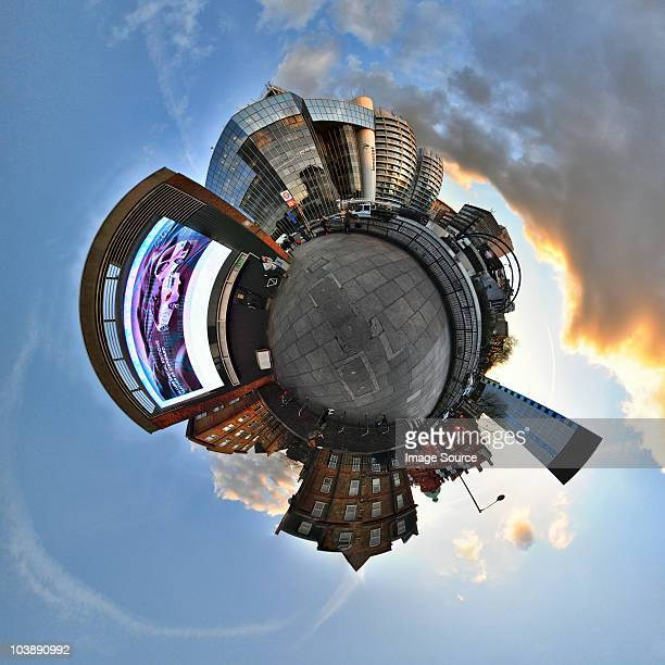 Old street london with little planet effect