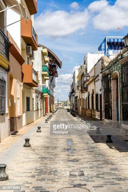 Old street near the harbor in Isla Cristina