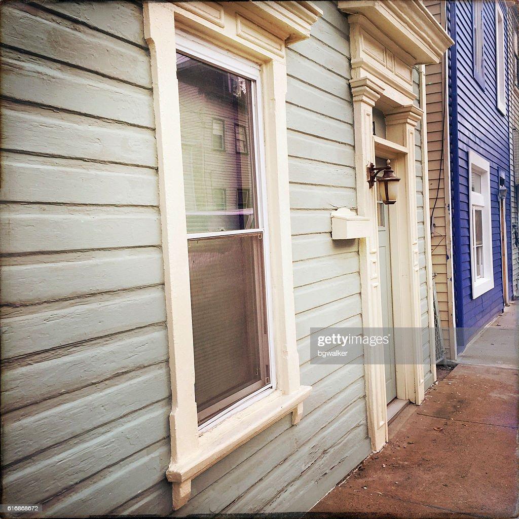 Old Style Houses in Pittsburgh Urban Neighborhood : Stock Photo