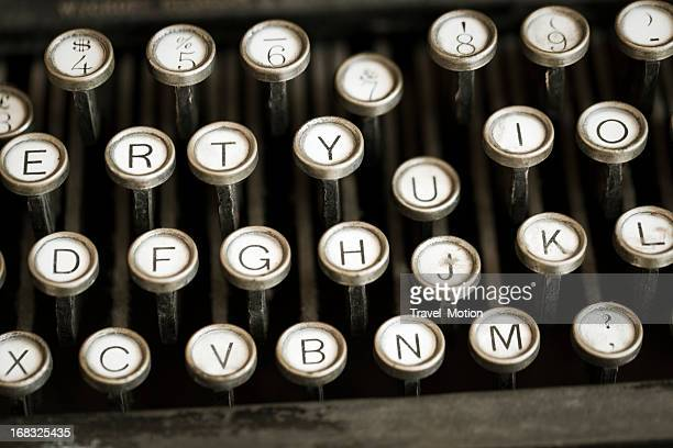 Old style typewriter with shallow depth of field